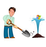 Bill Gates digging by DPencilPusher