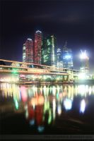 Reflections of Midnight City by Kvasilchuk