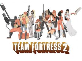 Team Fortress 2 Girls by SilentRicochet