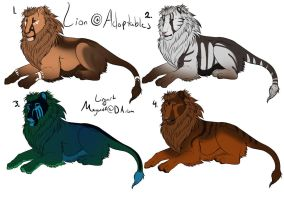 Lion Point Adoptables by Cloudymayday