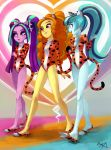 Adagio and The Dazzlings by ParadoxBroken