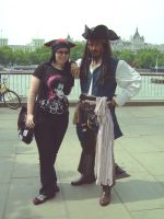 Me an Cap'n Sparrow by tavington