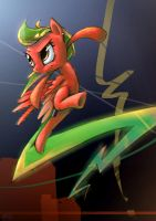 [request] Red Lightning Pony by Ruffu
