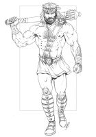 Marvel - Hercules pencils by RubusTheBarbarian