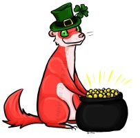 Ferret and the Pot 'o Gold by zoshi