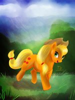 Apple Jack Speedpaint by TigresaDaina