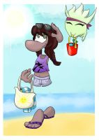 Beach Day by trickwee