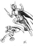 Big Barda and Mr Miracle by gadgetwk
