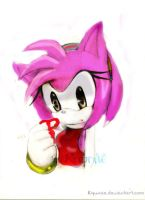 my amy rose paint in photoshop by sonicfreack