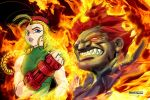 Cammy and Akuma by marvisionart