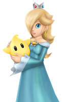Rosalina and her Luma by Gentlemanly