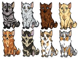 Dog / Wolf adoptables by khasaki