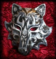 Black and Silver Wolf Mask by Namingway