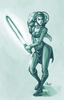 Twi'lek doodle, full circle by RyanJampole