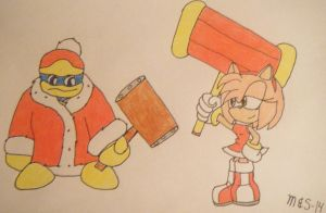 Amy and Dedede by marioandsonic-14