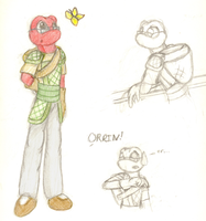 Practice sketches--Orrin by sonictheonlyhedgehog