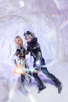 LoL_Ezreal and Lux by SoranoSuzu