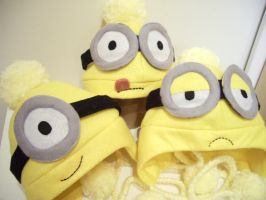 Despicable Me Minion Hats by oXxPuccaxXo