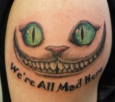 Cheshire Cat Tattoo by hoviemon