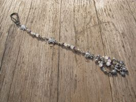 Silver and Shell Turtle Hair Dangle by Windthin