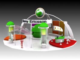 sony ericsson exhibition stand by R-DRAIN