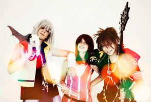 KH II - Riku, Sora And Kairi BY The SC Cosplay by theSCcosplay