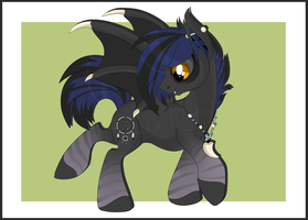 Bat pony adoption [AUCTION] paypal/points [CLOSED] by BlackFreya
