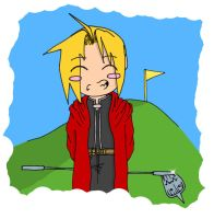 FMA: Ed and Al Golfing Colour by Insidious-Ink