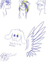 MLP Sketchdump by handcuffs4ever