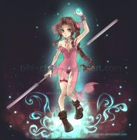 : Aerith - Lifestream Spirit : by bibi-chan
