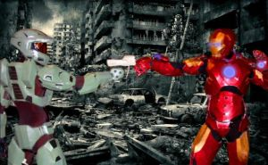 MASTER CHIEF .VS. IRON MAN: MECHANIZED APOCALYPSE by Cadmus130