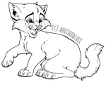 Free to Use Kitten Lineart! by RussianBlues