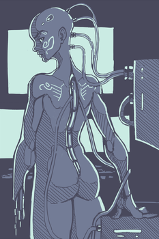 Android person from daily doodles by LiarJohnny