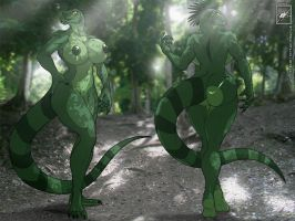 Sexy Lizard gal Completed by wsache007