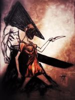 Pyramid Head and Nurse by CodyCurtin