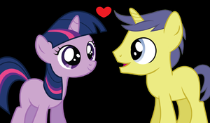 Twilight and Comet: Foal Love by 3D4D