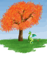 Dragon andd Tree by HaileyHerrarsaurus