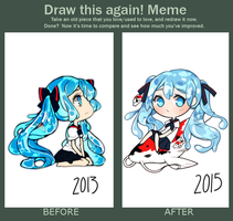 Draw this again! Bottle miku by Steamed-Bun