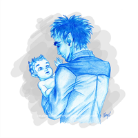 Chesshur and baby Liam by ArtbyMaryC