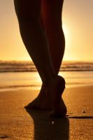 Backlit on the Beach by Valadj