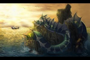 Sun, Seawater and Serpents by White-Mantis