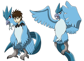 Kiribian: Articuno suit TF by PhoenixWulf