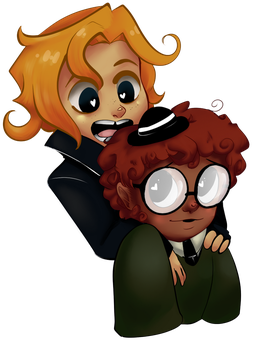 THEY LOOK SEVEN (gregg and Angus human version) by wahhbajack