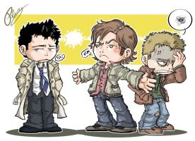 SUPERNATURAL chibis by lpspalmer