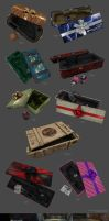 Unreal Xmas weapon boxes by Aberiu