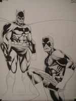 daredevil and batman by macacaralho