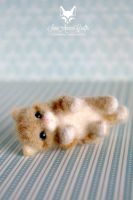 tiny ginger kitty II by SaniAmaniCrafts