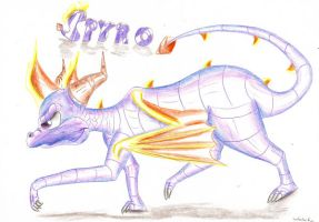Spyro the evil one by IcelectricSpyro