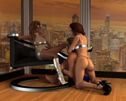 Heather and Tiffany - Teasing and Denial by 007Fanatic