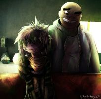 Gorillaz: Noodle and Russel by Tai-L-RodRigueZ